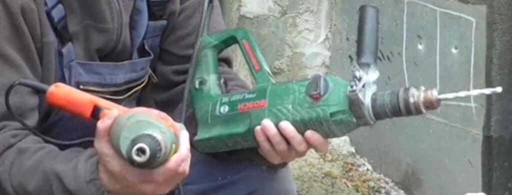 Bohrhammer vs. Schlagbohrmaschine