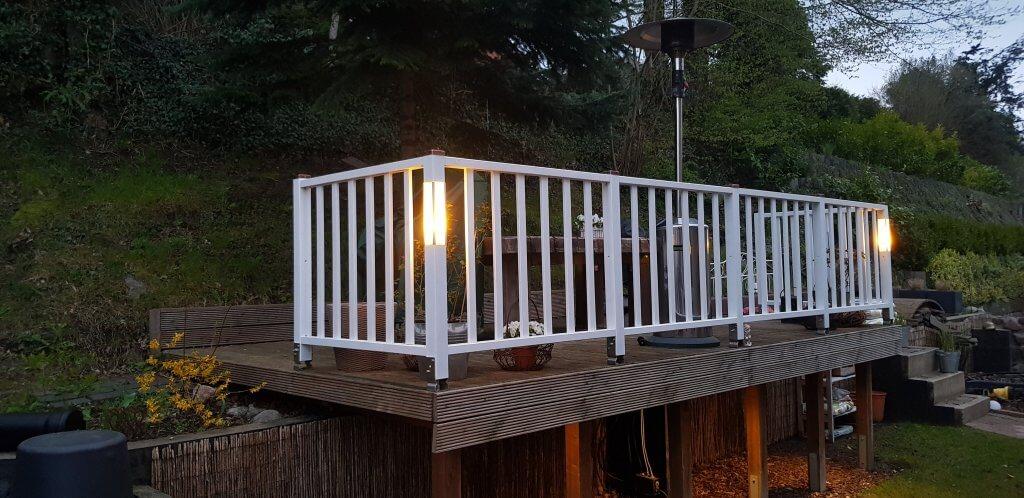 Terrassen Geländer selber bauen